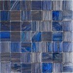 Brilliante Dark L Glass Mosaic Pool Tile