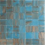 Brilliante Sky Copper Glass Mosaic Pool Tile