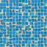Ocean Blue Mix Glass Mosaic Pool Tile