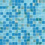 Wahoo Mix Glass Mosaic Pool Tile