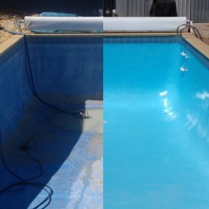 pool renovation before and after photo